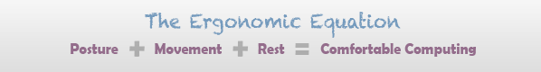 The Ergonomic Equation: Posture + Movement + Rest = Comfortable Computing